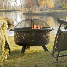 Coral Coast Rubbed Bronze Crossweave 36 In Wood Burning Fire Pit With Free Grill Grate And Cover Wood Fire Pit Wood Burning Fire Pit Garden Fire Pit