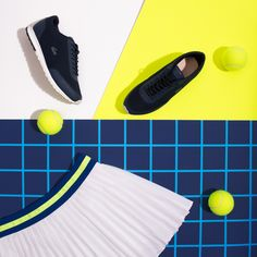 Try on our super practical pleated tennis skirt with built-in shorts for a movement free tennis session.