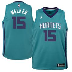 2e9ed0174 Kemba Walker Charlotte Hornets Jordan Brand Youth Swingman Jersey Teal -  Icon Edition