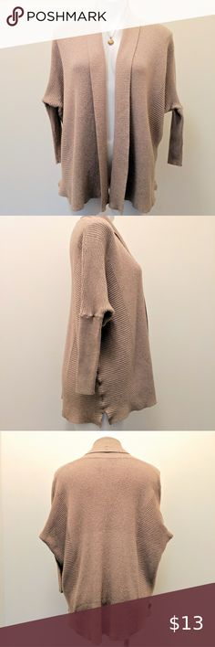 Ladies Batwing Cardigan Womens Kimono Boyfriend Cocoon Midi Open Front Rib Knit
