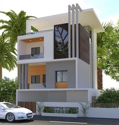 Ideas For Exterior House Design Modern Facades Architecture - Exterior Design Bungalow Haus Design, Duplex House Design, House Front Design, Modern House Design, Bungalow Ideas, Luxury Homes Exterior, Bungalow Exterior, Modern Exterior, Exterior Design