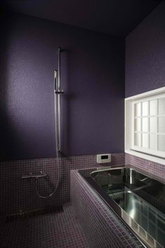 My Dream Shower would be a Japanese style shower/bath!  Not Purple, but like this. House of Integration By FORM | Kouichi Kimura In Japan