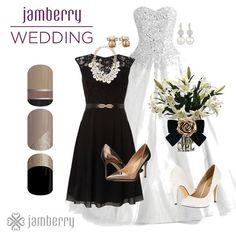 Make your black and white wedding even more special by getting a manicure that matches your mood, your look and your personality. With Jamberry nail wraps you can choose from over 300+ designs all at a very cheap cost. Maybe you might even want to get a celebration box where you and your bridesmaids get to spend an evening doing your nails together! Click the picture to shop.