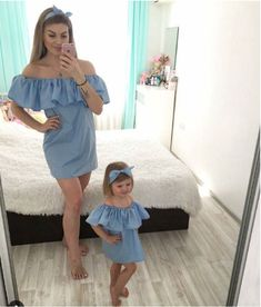 Dresses Mother Daughter Dress Fashion Family Matching Clothes Women Kid Girls Casual Summer Beach Dress Elegant Playa Vestidos Tops & Tees Tees