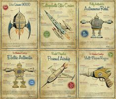 Vintage space/robot printables (good golly - this is perfect for E's room!)