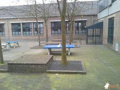 Pingpongtafel Blauw bij Koning Willem 1 College in Den Bosch