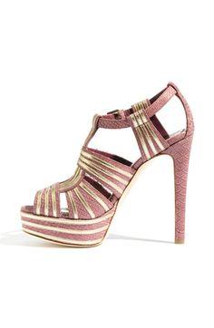 Dior 'Glamour' T-Strap Platform Sandal