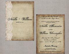 Wedding Invitation / Wedding Invitations / by NostalgicImprints