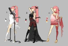 deviantART lotuslumino | M75 random outfits by LotusLumino on DeviantArt