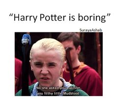 Harry Potter is not boring