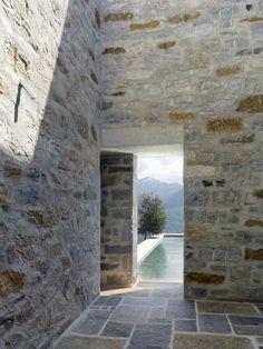 Interior courtyards...