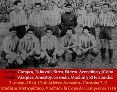 Foto club Atletico-Aviacion 1943/44.