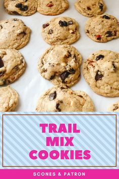 Trail Mix Cookies | A traditional cookie reminiscent of your favorite trail mix courtesy of the addition of chocolate chunks, chopped almonds, and dried cranberries. A dash of cinnamon and a healthy dose of browned butter lend a complex, irresistible flavor. You won't be able to stop eating these!