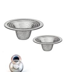 2 Pc Stainless Steel Mesh Sink Strainer Drain Stopper Trap Kitchen Bathroom New Clogged Sink Drain, Clogged Sink Bathroom, Smelly Bathroom, Bathroom Sink Drain, Bath Fixtures, Kitchen Fixtures, Dining Table Sale, Black Sink, Sink Strainer