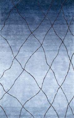Ombre Shag OS03 Fishing Net Trellis Rug