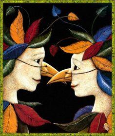"""Maria Battaglia illustration for """"Il Flauto Magico""""."""