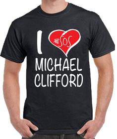 5 Seconds of Summer Michael Clifford T-shirt 5sos Merchandise, Michael Clifford, 5 Seconds Of Summer, Hoodies, Boyfriend, Kitty, Mens Tops, T Shirt, Girls