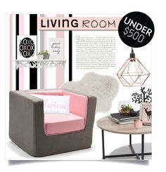 """living room under 500$"" by ailav9 ❤ liked on Polyvore featuring interior, interiors, interior design, home, home decor, interior decorating, White Label, Loloi Rugs, Urban Outfitters and Monte"