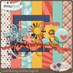 Good Morning Sunshine Digital Scrapbook Page Kit by Luv Ewe Designs at Gotta Pixel.