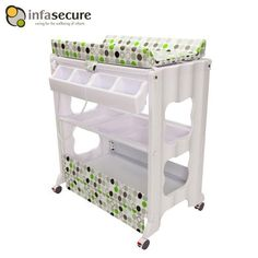 Infa Secure Cosmo Newborn Baby Bath & Change Centre - Green Circle