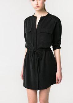 Mango tencel shirt dress