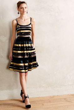 Wolven Ada Velvet Burnout #Dress #anthrofave #newyearseve