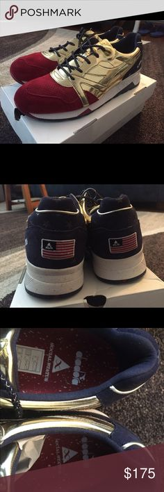 """Diadora, Social Status """"USA Olympic"""" Collaboration Never worn, first time being taken out of the box. Just a great and stylish looking sneaker! Size 12 but fit like a 13. Diadora Shoes Sneakers"""