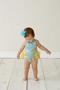 This ruffled romper is adorable!!
