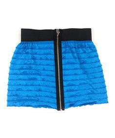 Bright ruffles and a contrast zipper give this skirt a cool and trendy look. An elastic waistband and soft lining make it comfy to pull on for hours of flouncy fun.