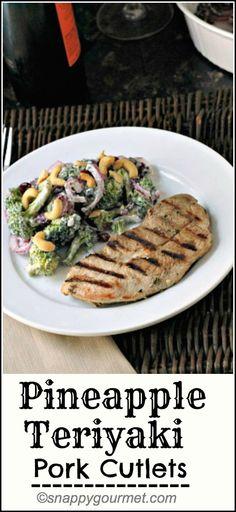Pineapple Teriyaki Pork, easy summer dinner recipe! snappygourmet.com