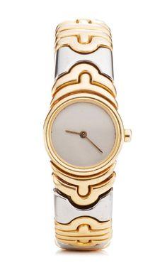 18K Yellow Gold And Stainless Steel Bulgari Parentesi Ladies' Watch by Portero for Preorder on Moda Operandi