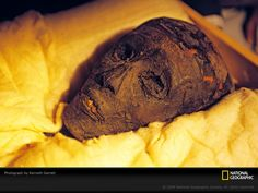 King Tut: He was only nine years old when he became a pharaoh of the dynasty in 1361 B., lived a short life. Tutankhamun Died at 19 Years Of Age Ancient Ruins, Ancient Artifacts, Ancient Egypt, Ancient History, Egyptian Kings, Egyptian Art, Mummy Photos, Post Mortem, Egyptian Mummies