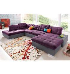 Couch Garnitur Ecksofa Eckcouch Sofagarnitur Sofa FUTURE 2.1 U ...