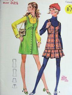 1960s MOD MINI JUMPER PATTERN BUTTERICK 5592