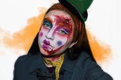 🧡We are all mad here🧡 Estoy MUY contenta con este maquillaje y con la edición de la foto 🖤 Esta sería como la continuación del que hice de… Halloween Makeup, Fictional Characters, Instagram, Art, Make Up, Pictures, Haloween Makeup, Kunst, Fantasy Characters