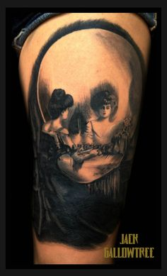 JACK GALLOWTREE | Painting 'all is vanity' by Charles Gilbert tattoo...