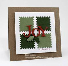 CAS Joy Postage Stamp card by stampit74 - Cards and Paper Crafts at Splitcoaststampers