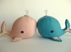 Whale Pin Cushions.