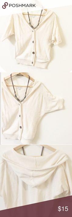 Spotted while shopping on Poshmark: Banana republic short sleeve hoodie! #poshmark #fashion #shopping #style #Banana Republic #Sweaters