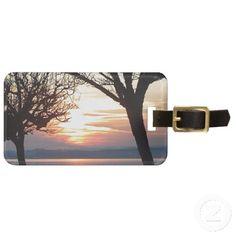 www.zazzle.com/fotosbykarin : Sunset at the lake bag tags