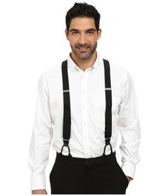 Stacy Adams - Button-On Suspenders XL Black Mens Belts $29.99 AT vintagedancer.com