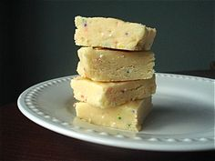 Cake Batter Fudge... YUM... I tried this with pink velvet cake and it was delicious! I think it would work well with and cake mix