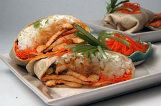Asian Chicken Burritos