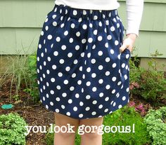 Love this easy skirt with pockets...