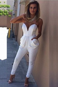701eae528d8 Modetrend  Weiße Overalls für Frauen. All White ...