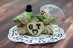 Wedding cake topper Love birds cake toppers Tree by orlydesign, $105.00