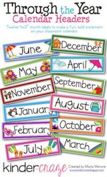 FREE download! Cute Calendar Headers