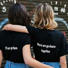 Cheap bff t shirt, Buy Quality t shirt women directly from China couples tee shi… Günstige BFF T-Shirt, kaufen Qualität. Bff Shirts, Couple Tee Shirts, Best Friend T Shirts, Best Friend Outfits, Best Friend Photos, Best Friend Goals, Best Friend Things, Matching Outfits Best Friend, Best Friend Quotes Funny