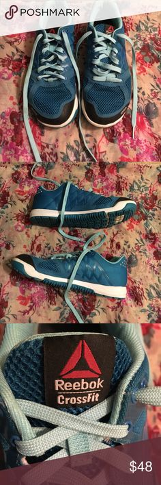 Reebok Crossfit Nano Shoes Reposhing these EUC Reebok Crossfit Nano shoes in blue, size 7.   Some signs of wear along the lace eyelets, logo on insoles is worn.   Comes with another pair of laces. Perfect for weightlifting and crossfit. Reebok Shoes Sneakers