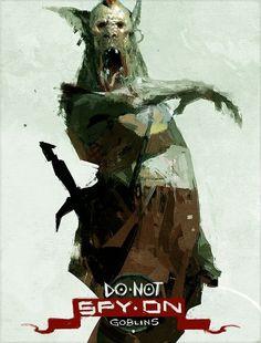 Do Not Spy On Goblins, an art print by Sergey Kolesov Goblin, Sergey Kolesov, Digital Drawing, Character Art, Character Design, Dragons, Art Et Illustration, Photoshop, Creature Design